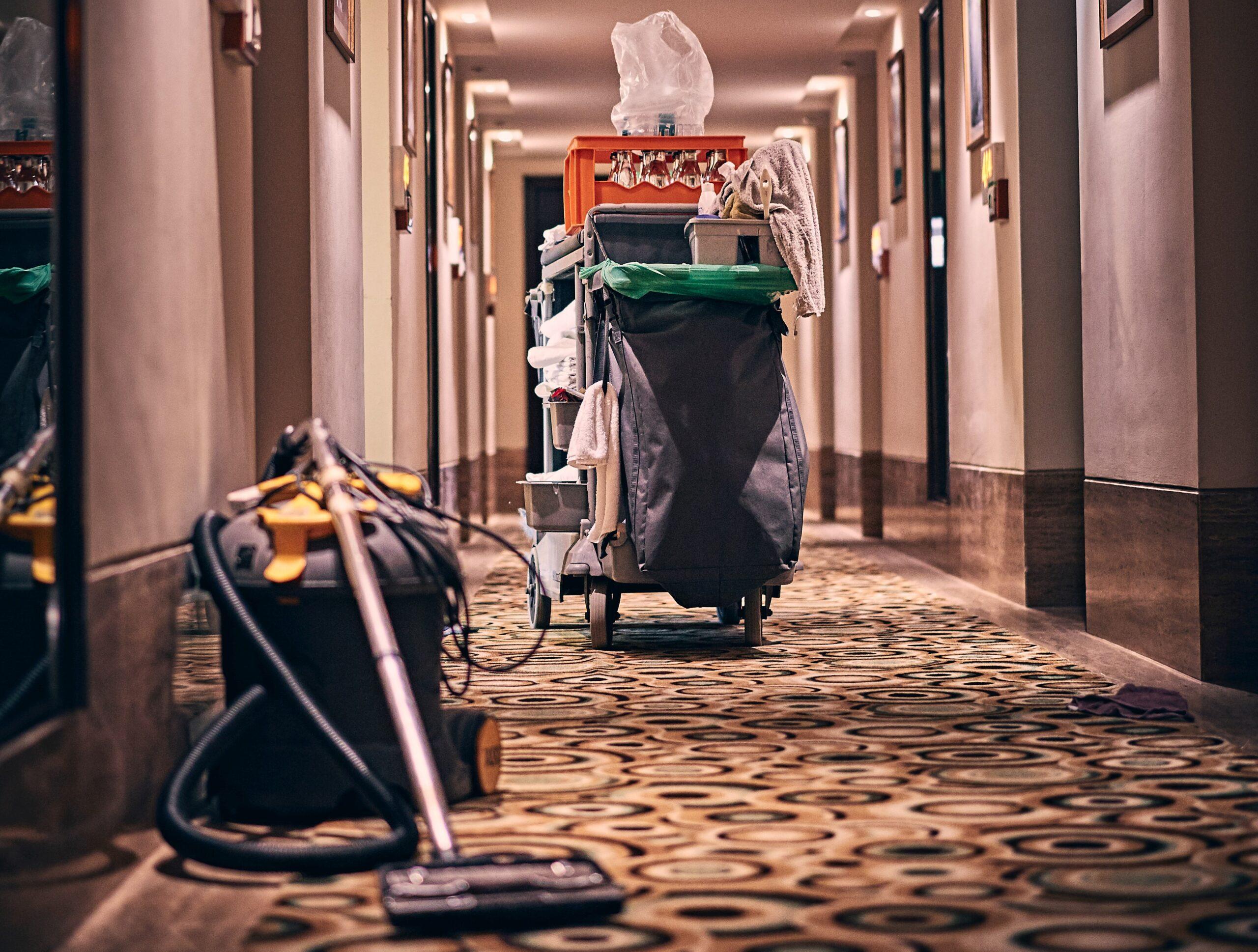 Limpieza en hoteles después del coronavirus